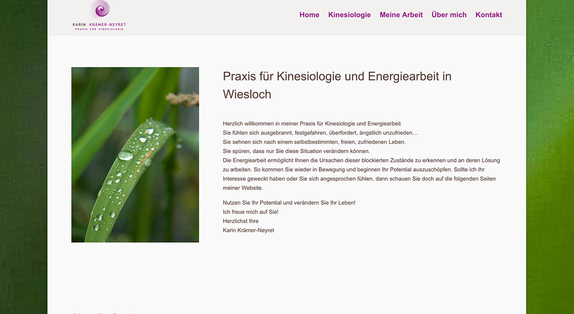 Kinesiologische Praxis | Karin Krämer-Neyret